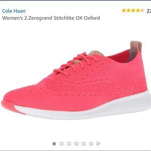 Cole Haan 2 zerogrand wingtip sneaker flashknit 10